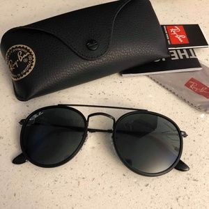✨SALE✨ NEW RAY-BAN ROUND DOUBLE BRIDGE BLACK